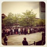 Good crowd for One Direction outside Key 103